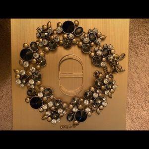 Zara's statement navy silver  necklace